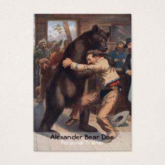 Mann gegen Bären - persönliche Visitenkarte