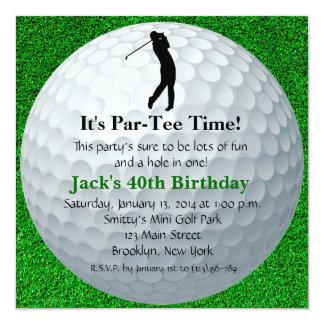 geburtstag golf einladungen | zazzle.ch, Einladung