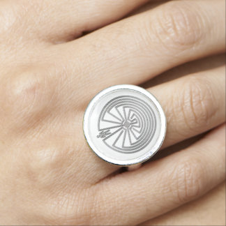 MANN IM LABYRINTH-Silber Foto Ringe