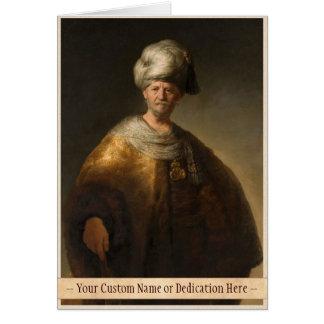 Mann im orientalischen Kostüm, durch Rembrandt Van Karte