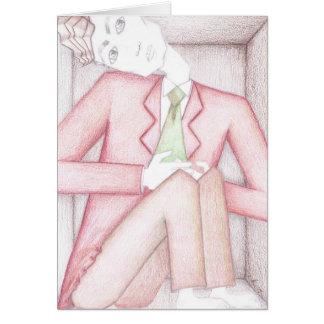 Mann in einem Kasten Karte