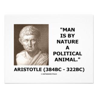 Mann ist von Natur aus ein politisches Tier Einladungskarten