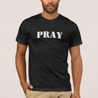 Mann-kurzer T - Shirt - beten Sie