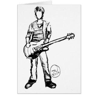 Mann mit Gitarre Karte