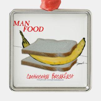 Mann-Nahrung Tonys Fernandess - kontinentales Silbernes Ornament