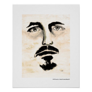 Mann-Porträt-Kunst-bildliches Malerei-Plakat Poster