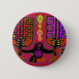Mann Sans Blas Kuna mit Fans Runder Button 5,7 Cm