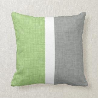 Mann scherzt Dekor-graues grünes Kissen