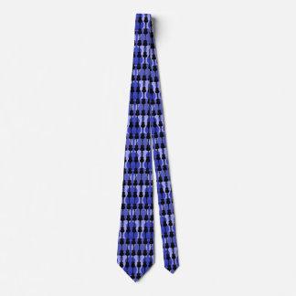 Männer blau und schwarze Gitarren Personalisierte Krawatte