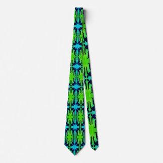 Männer grün u. blaues Hals-Krawatten-weibliche Krawatte