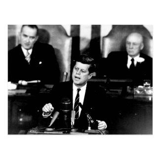 Männer Präsidenten-John F. Kennedy zur Mond-Rede Postkarte