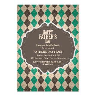 Männliche der Vatertags-Einladung Rauten-