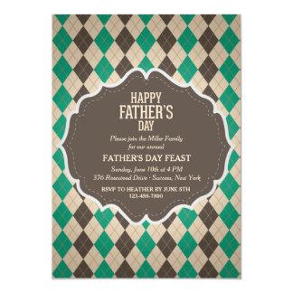 Männliche der Vatertags-Einladung Rauten- 12,7 X 17,8 Cm Einladungskarte