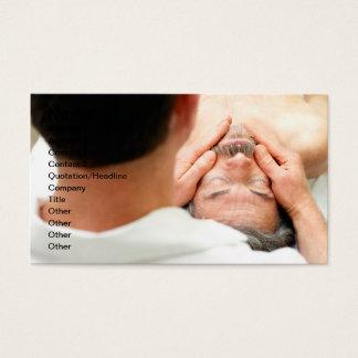 Männliche Gesichts-Massage Visitenkarte