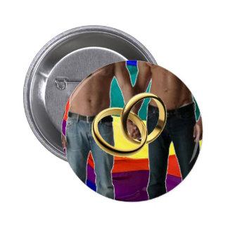 Männliche Heirat Runder Button 5,1 Cm