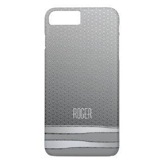Männliche Imitat-Metallblick-silbernes iPhone 7 Plus Hülle