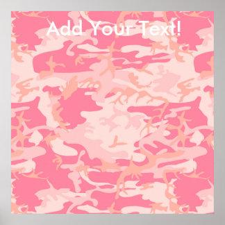 Männliche rosa Camouflage Poster