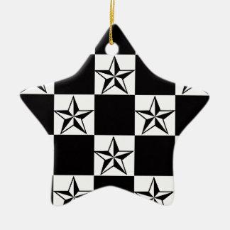 Männlicher dunkler Stern-Druck Keramik Ornament