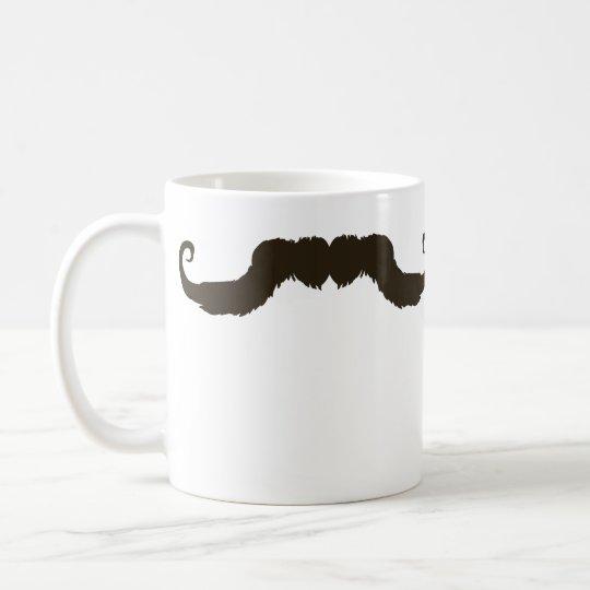 Männlicher gekräuselter Schnurrbart Kaffeetasse