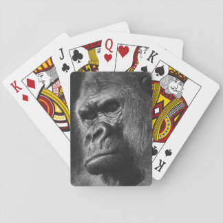 Männlicher Gorilla Spielkarten