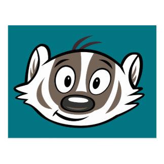 Männlicher Känguru-Dachs-Gesicht Ricky Waschbär-| Postkarte