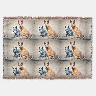 Männlicher Känguru-und Jessie Wurfs-Decke Decke