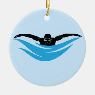 Männlicher Schmetterlings-Schwimmer Keramik Ornament