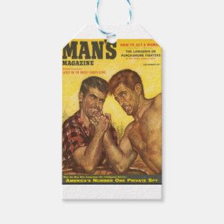 Männliches Mann-Arm-Wringen Geschenkanhänger