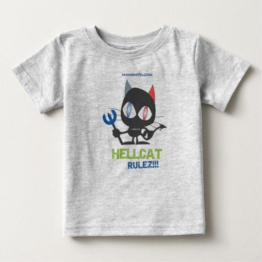 manomtr.com: Hellcat Hemi Rulez Baby T-shirt