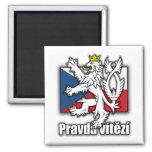 Manteau tchèque de lion de drapeau de bras aimant