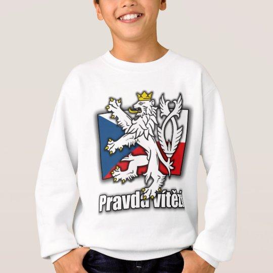 Manteau tchèque de lion de drapeau de bras sweatshirt
