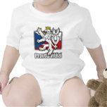Manteau tchèque de lion de drapeau de bras t-shirts