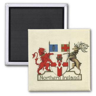 Mantel-Von-Arme für Nordirland Quadratischer Magnet