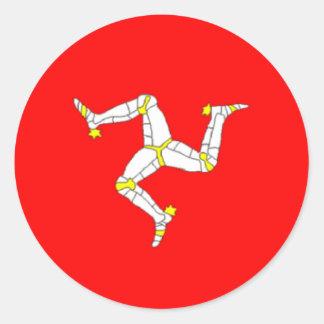 Manx Flaggen-Aufkleber Runder Aufkleber