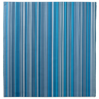 Many multi colored stripes in the blue... serviette