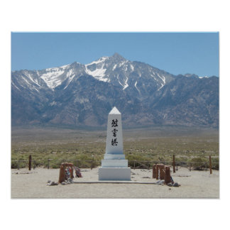 Manzanar Kriegs-Denkmal Poster