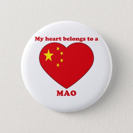 Mao Runder Button 5,1 Cm