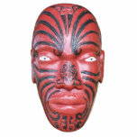 Maori- Kriegs-Kanu-Repräsentationsfigur Fotoausschnitt