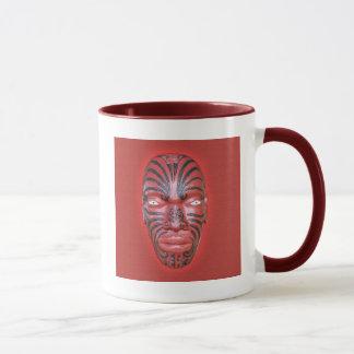 Maori- Kriegs-Kanu-Repräsentationsfigur - Tasse