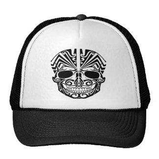 Maori- Tätowierungs-Masken-Schädel Retrokappen