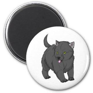 Marchandises de chiot de loup gris de MWCA Magnet Rond 8 Cm