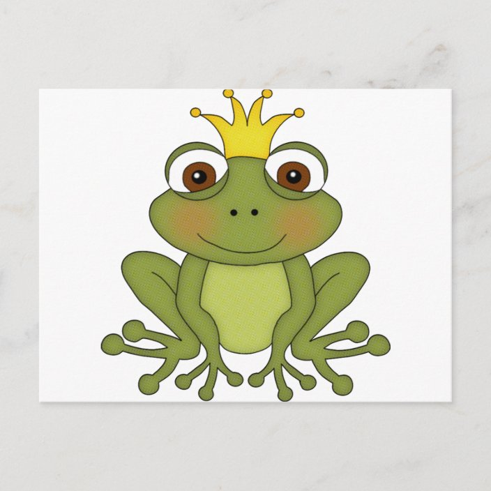 märchenfroschprinz mit krone postkarte  zazzlech