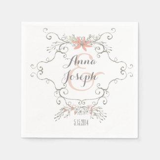 Märchen-Hochzeits-Servietten Papierserviette