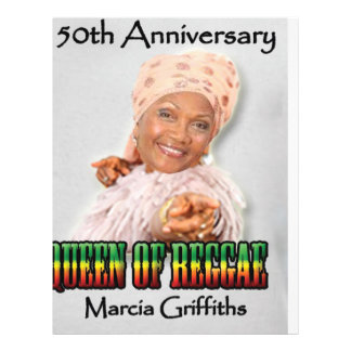 Marcia Griffiths der Jahrestag der Flyerdesign