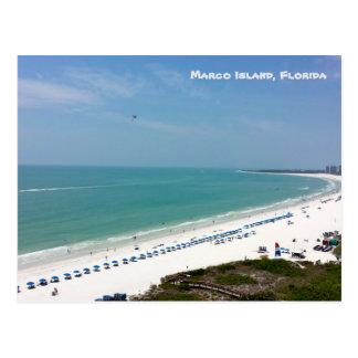 Marco Insel-Florida-Strand das Golf von Mexiko Postkarte