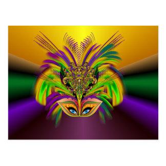 Mardi-Gras-Mask-The-Queen-V-3 Postkarte