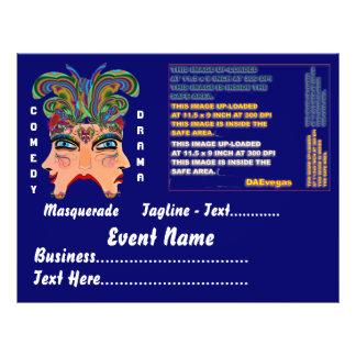 Mardi Gras Masquerade Comedy Drama View Hints Plse Flyer Design