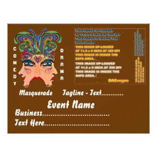 Mardi Gras Masquerade Comedy Drama View Hints Plse Full Color Flyer