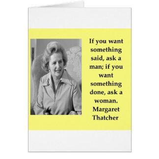 Margaret Thatcher-Zitat Karte