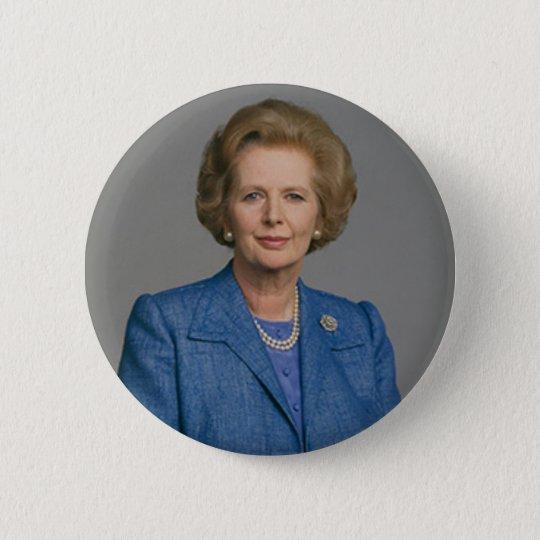 Margaret- Thatcherknopf-Abzeichen Runder Button 5,7 Cm